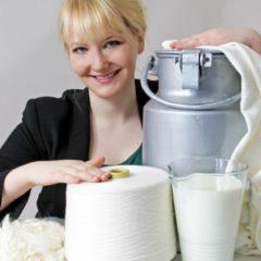 Des vêtements à base de lait